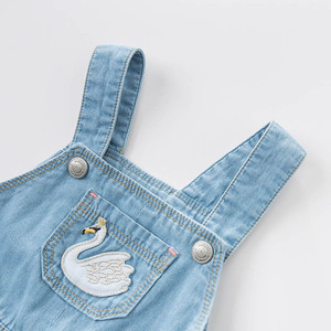 Image 3 - dave bella spring infant baby girls denim dress fashion strap dress birthday suspenders dress toddler children clothes