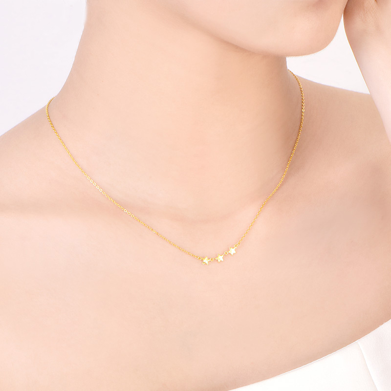 Image 5 - SFE 24K Pure Gold Necklace Real AU 999 Solid Gold Chain Beautiful Leaf Upscale Trendy Classic  Fine Jewelry Hot Sell New 2019-in Necklaces from Jewelry & Accessories