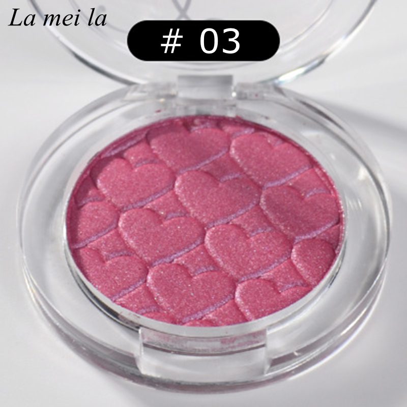 2019 Hot Sale New Makeup Super Shock Durable Waterproof Single color Shimmer Eye Shadow Rose red 03 in Eye Shadow from Beauty Health
