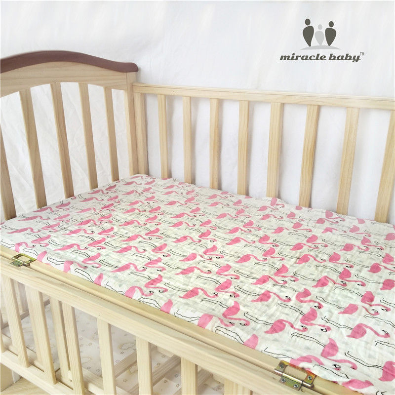 MIRACLE BABY Fitted Sheet 100% Cotton Home Textile Bed Sheet Cover Mattress Cover Protector crib sheet baby bedding set 130x70cm