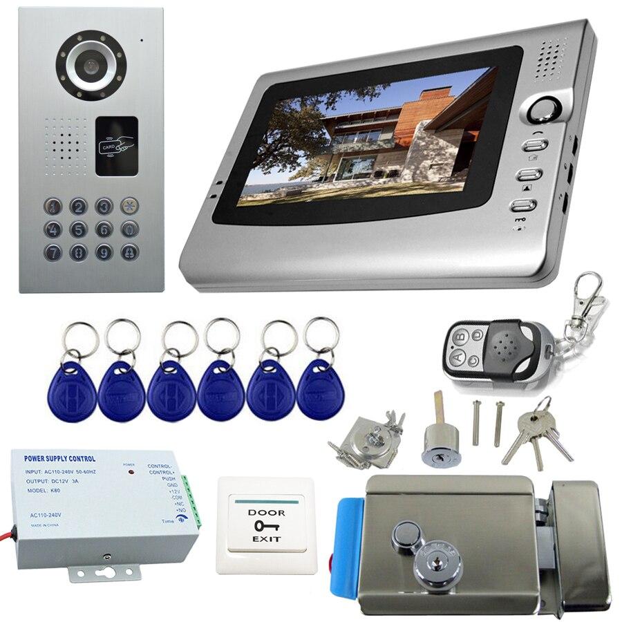 Video door phone intercom electronic door lock video doorbell 200V to 240V power supply interphone visiophone waterproof IP65