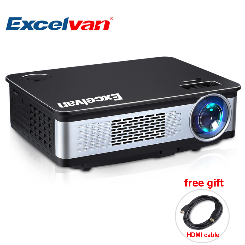 Excalvan Z720 LCD projector 3300 lumen 1280768 home theater support 1080P HD Multimedia Projector With HDMI VGA USB AV uc28 1080p hd 400lm 16770k led lcd projector with hdmi vga slots