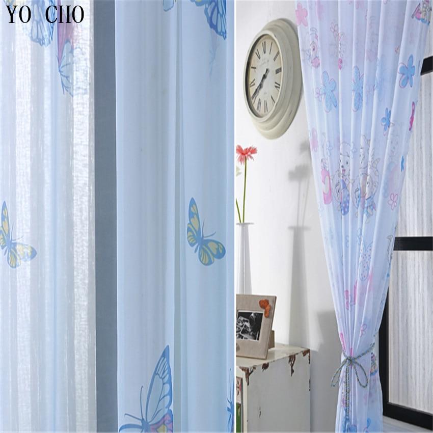 Cartoon Animals Organza Curtains Cheap Kids Curtains Custom Window  Treatments Modern Curtains For Living Room Baby