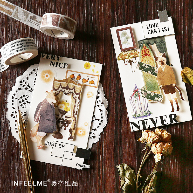 Downton Abbey Theme Washi Tape Diy Scrapbooking Sticker Label Masking Tape School Office Supply Gift Stationery
