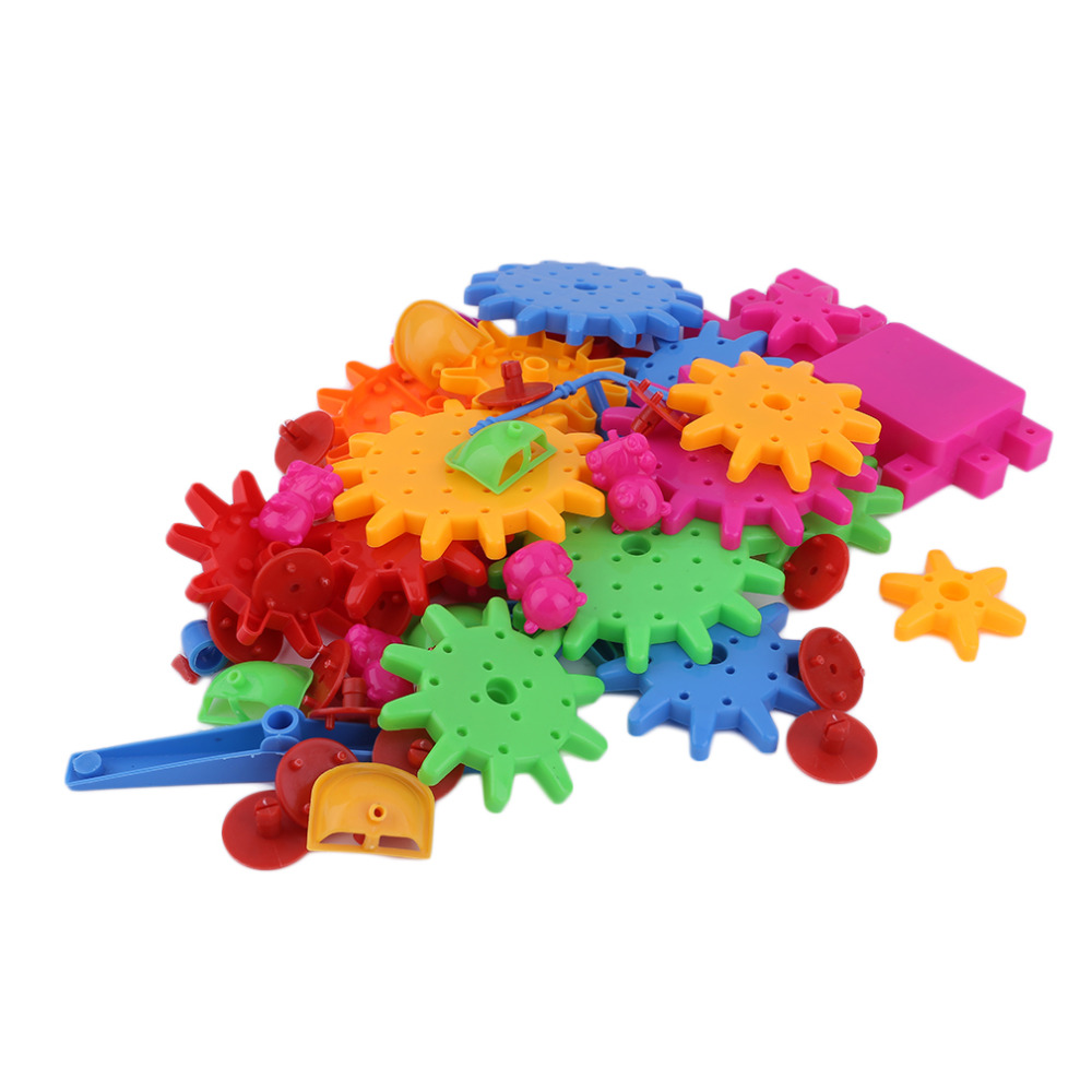Educational 81 Pieces Electric Magic Gears  Building Blocks 3D DIY Plastic Funny Toy Mosaic Toys For Children building blocks stick diy lepin toy plastic intelligence magic sticks toy creativity educational learningtoys for children gift page 3