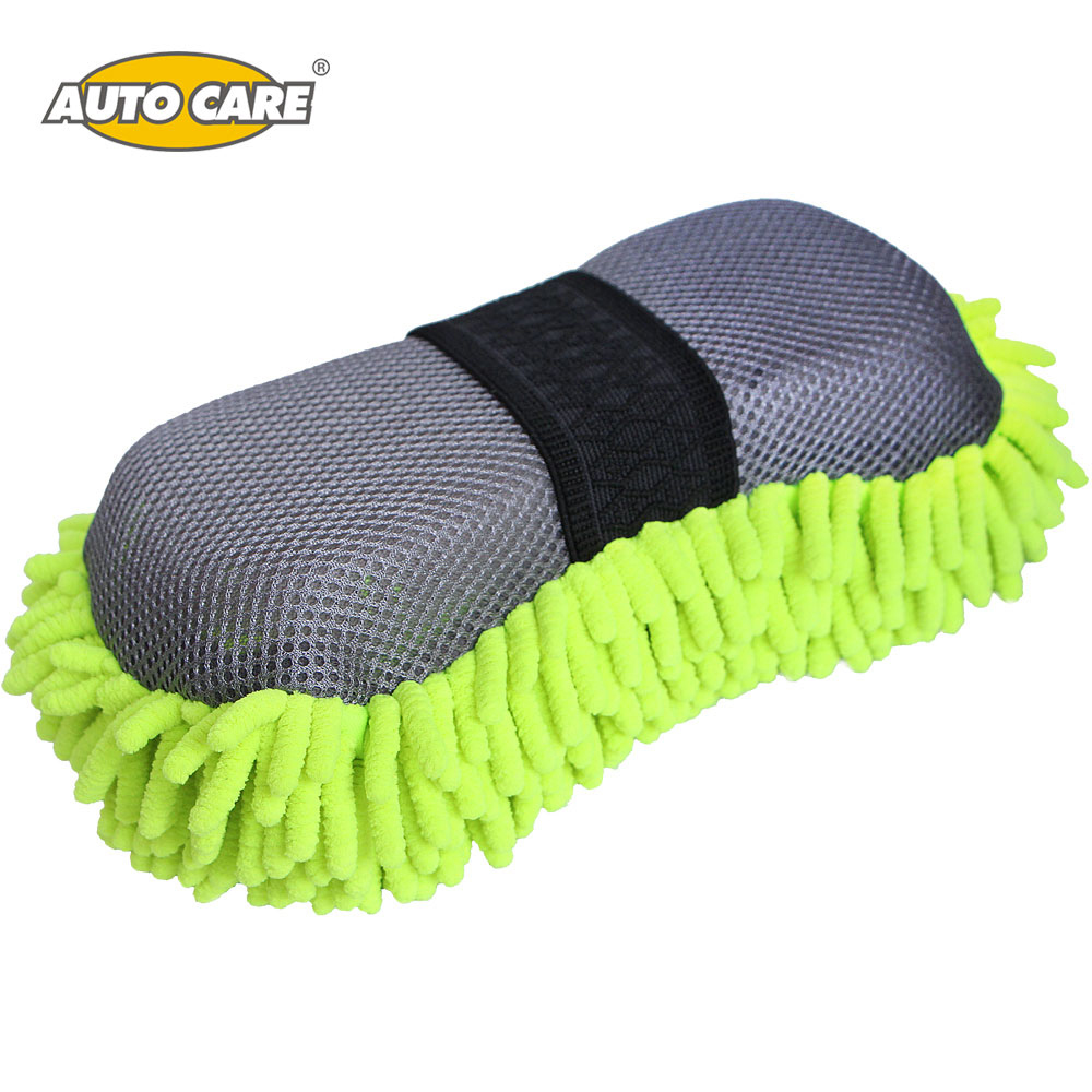 Auto Care 2IN1 Car Wash Sponge Mixed Ultrafine Fiber Microfiber Chenille(Anthozoan)/Mesh for Washing & Cleaning Ideal SP04