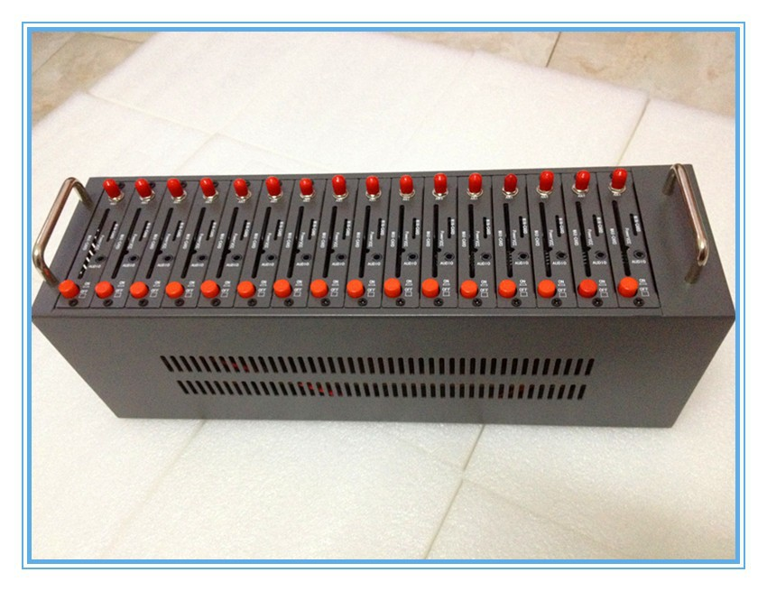 16 ports gsm modem Wavecom Q2303 send bulk sms modem