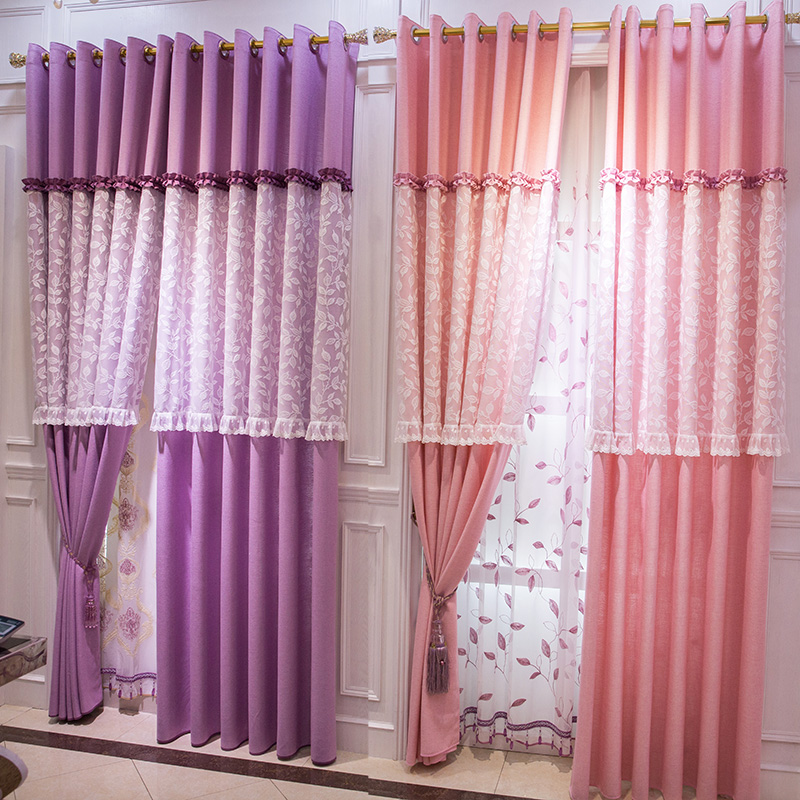 Online buy wholesale sheer curtains purple from china for Buy home decor online cheap