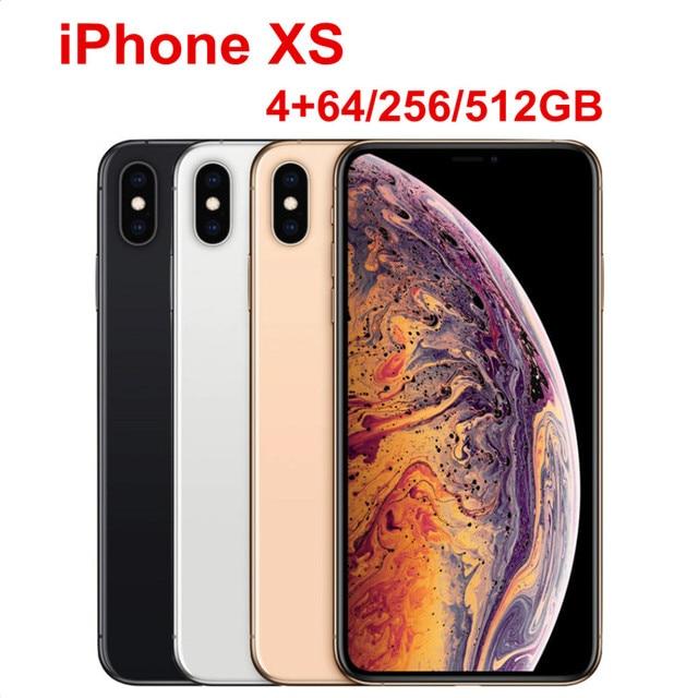 "Apple iPhone XS 5.8"" RAM 4GB ROM 64GB/256GB/512GB Original Mobile Phone LTE Hexa Core 12MP+12MP IOS12 Face ID NFC A12 Bionic"