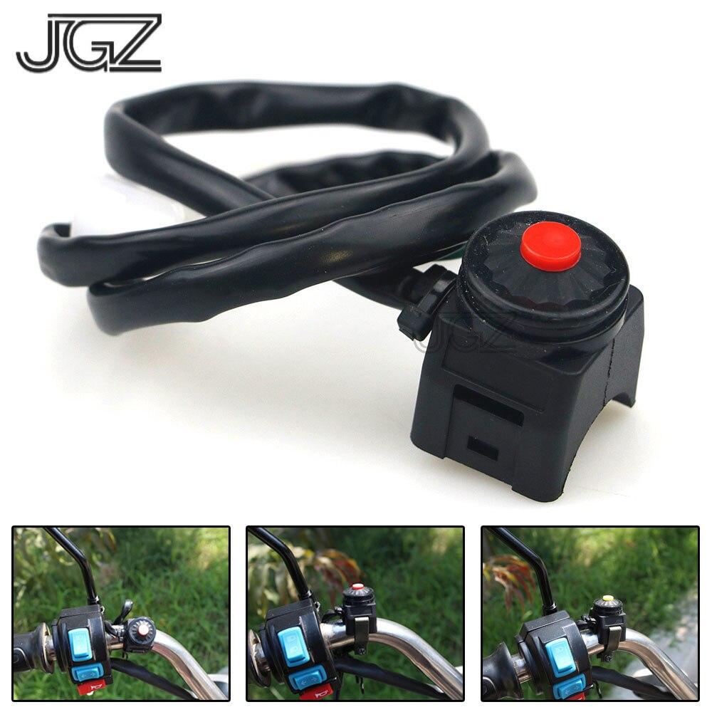 Interruptor de Manillar 22 mm para Moto Bot/ón de ON//OFF C Interruptor Arranque Moto