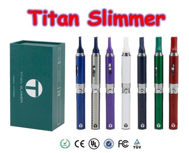 Original Titan Slimmer Vaporizer Pen Starter Kit 7 Colors 650mah Herbal Vaporizer Dry Herb Electronic Cigarette