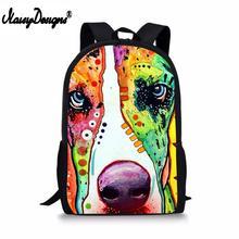 2019 New Animal Greyhound Pug Pitbull Dogs Children Backpacks Kids Kindergarten Bag Mochila Escolar Dropshipping Men Custom Bags