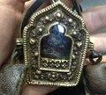 IB1991 Tibet antigo bronze Antiqued caixa de Oração, 8*7 cm, grande caixa GAU amuleto, Tibetano sorte Babao, Tibetano artesanato, Frete grátis