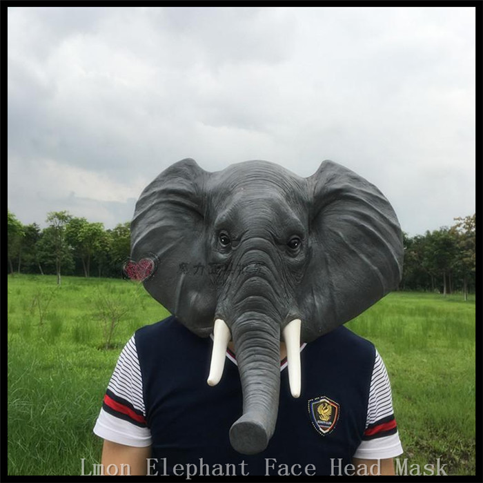 2016 new halloween props adult elephant masks anim - Halloween Props 2016