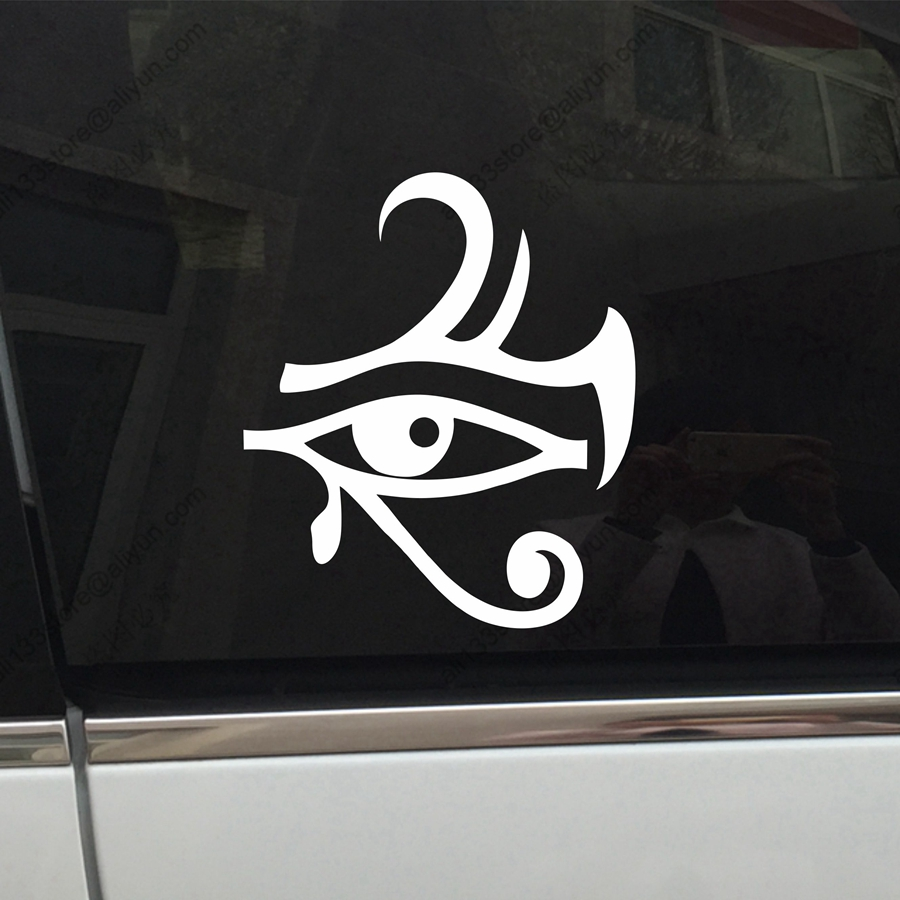 Eye of ra re horse egyptian god pagan symbol car decal sticker eye of ra re horse egyptian god pagan symbol car decal sticker vinyl truck boat die cut no background pick color and size style1 in car stickers from biocorpaavc