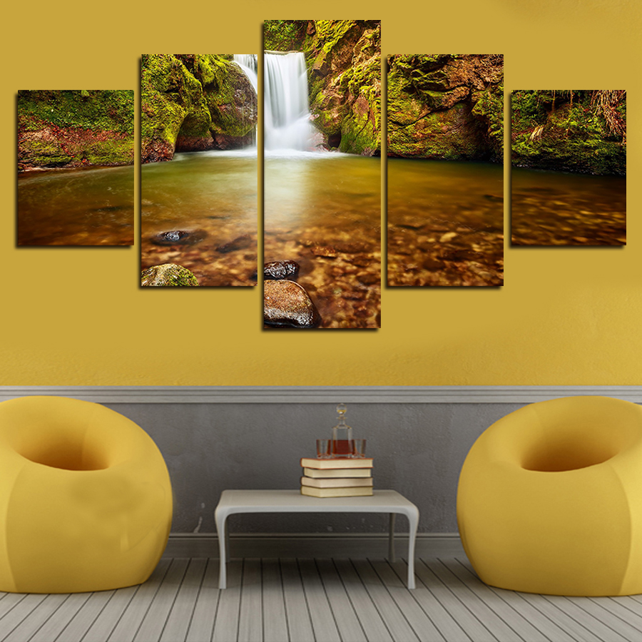 2016 Real Paintings Sale Fallout Canvas Painting 5 Panels Wall Art ...
