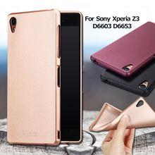 X-LEVEL чехол для Sony Xperia Z3 L50T D6603 D6643 D6653 Чехол Guardian серии металлик матовый ТПУ кожного покрова для Sony Z 3 Капа