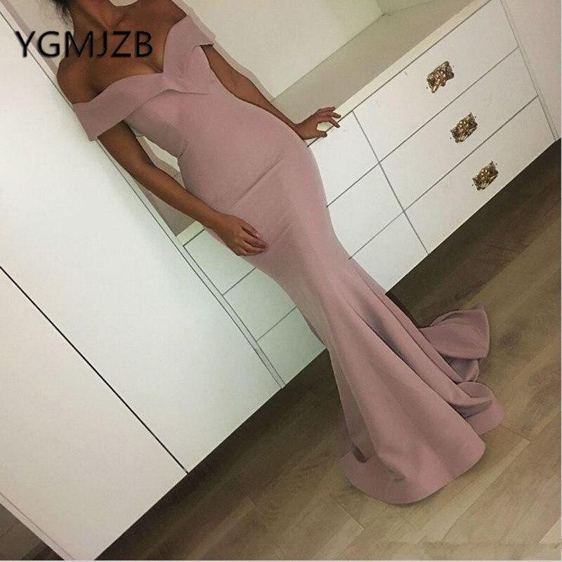 Robes de Gala 2019 élégantes longues robes de bal sirène hors de l'épaule robe de soirée saoudienne arabe femmes formelle robe de bal