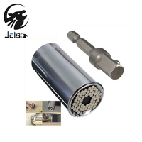 Jelbo Drill Bits For Metal Tool Uiversal Socket Adapter Power Drill Adapter 2pc Set Car Hand