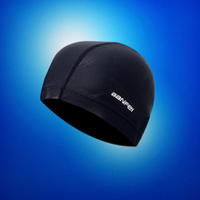 Professional Swimming Caps Pure Color Hat Pool Wear Protect Ears Durability Men Sharkskin Swim for And Women