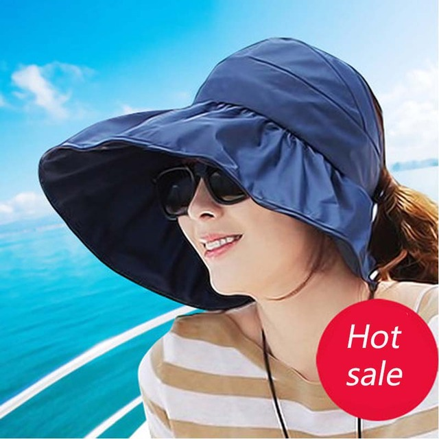 Sun Hats sun visor hat Sun Hats for women with big heads beach hat summer  UV protection 6ab70e4a8b1