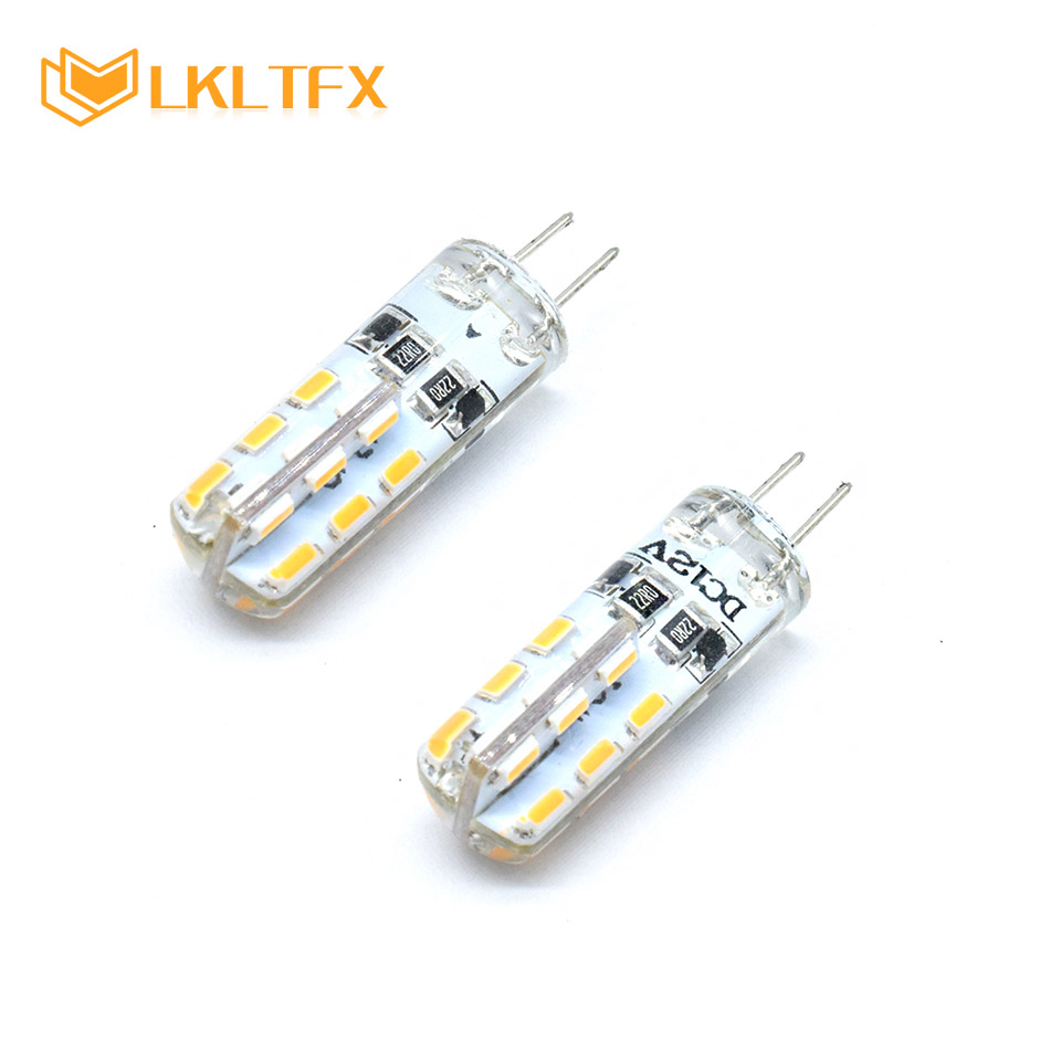 Wholesale Led Lighting 12 V Energy Saving Silicone Cover 3014 SMD 1.5 W G4 LED Light DC 12V