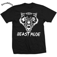 SexeMara New Arrival Loose Bodybuilding T Shirt Men Letter Carton Print Casual Short Sleeve T-shirt Brand Breathable Tees Tops