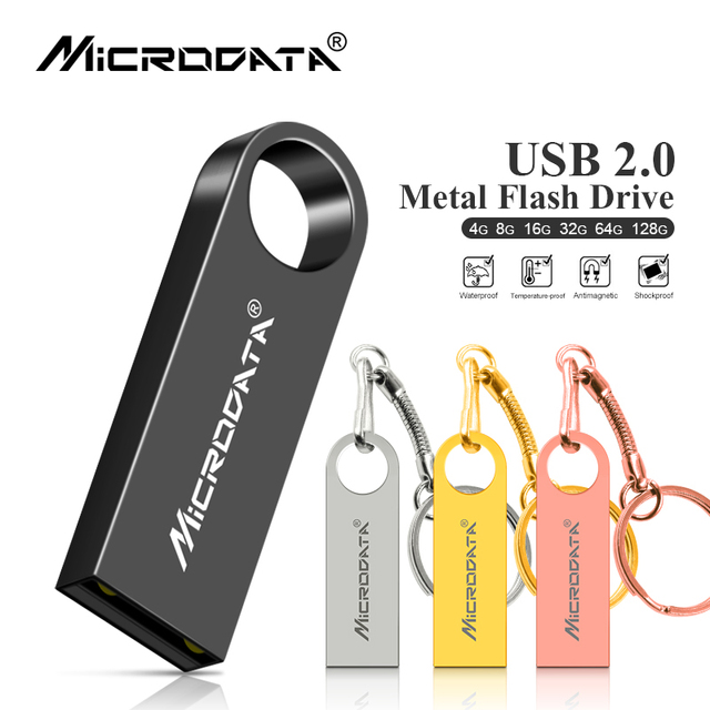 Los microdatos USB Flash Drive 128 GB 64 GB Pendrive USB de alta velocidad de 32 GB Pen Drive capacidad Real 16G USB Flash envío gratuito