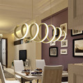 Волнистое кольцо  светодиодные подвесные светильники  креативные  ресторанные  умные  для гостиной  спальни  для учебы  акриловые светодиод...