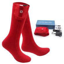 Женские и мужские зимние теплые носки с подогревом деятельности Перезаряжаемые батарея Электрический 3,7 вольт с подогревом электронные сигареты электрические яркие носки для малышей