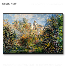 Skilled Artist Hand-painted High Quality The Moreno Garden at Bordighera Oil Painting Reproduce Cloud Monet Artwork