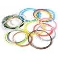 10 unids (10 Colores) 10 m (1 unids Longitud) 1.75mm (Diámetro) ABS Filamento Modelado de Dibujo 3D estereoscópica Impresora Pluma TH089