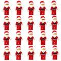 20 шт. Санта-Клаус Детские Блоки Игрушки Рождественский Подарок Строительные Кирпичи Игрушки