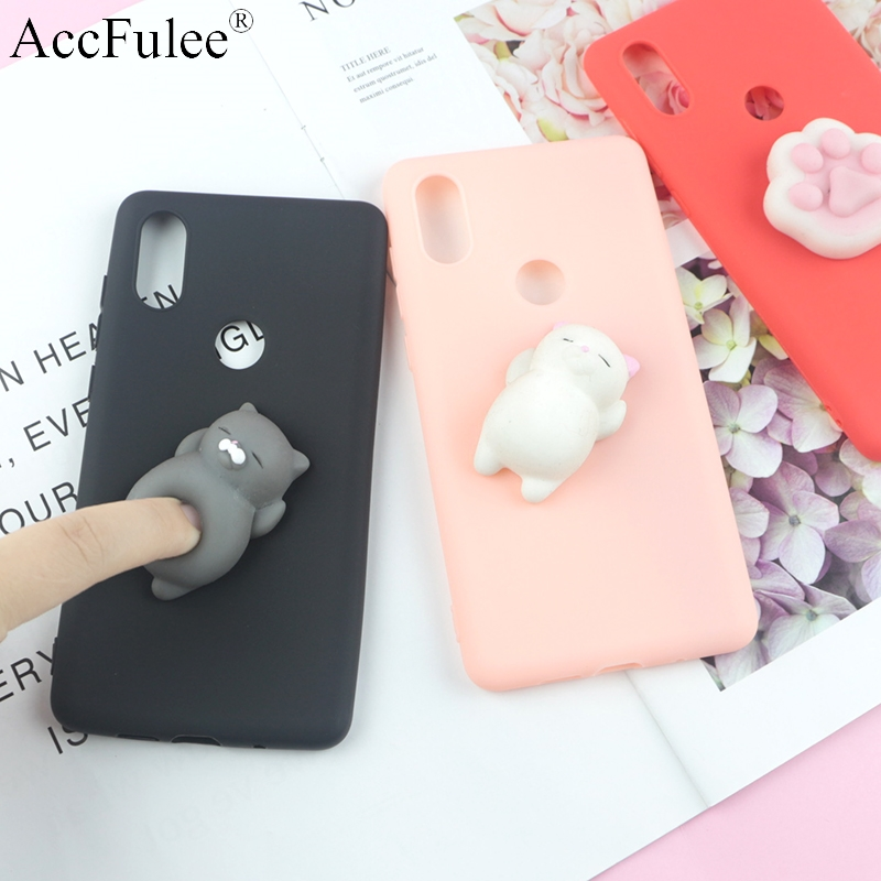 Cute Toys Squishy Case For Xiaomi Redmi Note 5 Pro Funny Cat Cases For Xiaomi Redmi Note5 Pro (India Version) Phone Bags Cover