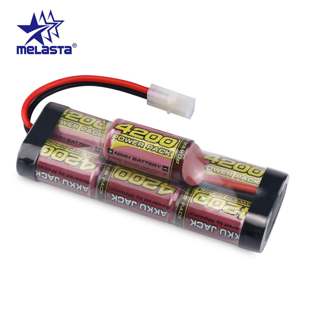 Melasta 8.4V 4200mAh 7Cells Hump Pack NiMH Battery Pack with Tamiya Discharge Plug for RC Racing Cars image