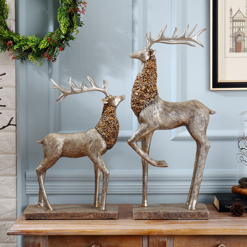 deer living room decoration Home Furnishing American TV cabinet Decor European style entrance table housewarming gift