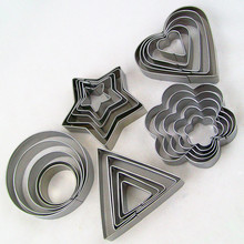 Stamp Biscuit Mold Cake-Tools Cookie-Cutter Flower/star-Shape New-Year-Decoration 5pcs/Set