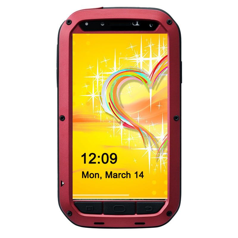best website 48f0f 6eb42 US $17.99 |Durable Powerful Shockproof Weatherproof metal Gorilla Glass  Metal Cover Cell Phone Case For Samsung Galaxy s4-in Fitted Cases from ...