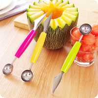 4Pcs/ Set Creative Fruit Carving Knife Watermelon Baller Ice Cream Dig Ball Scoop Spoon Baller Diy Assorted Cold Dishes Tool