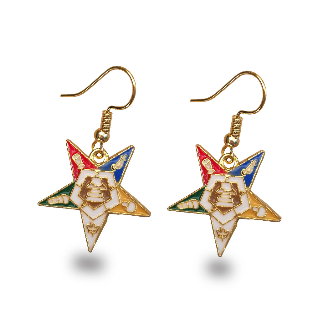 10pair Order of the Eastern Star OES LOGO gold Earrings