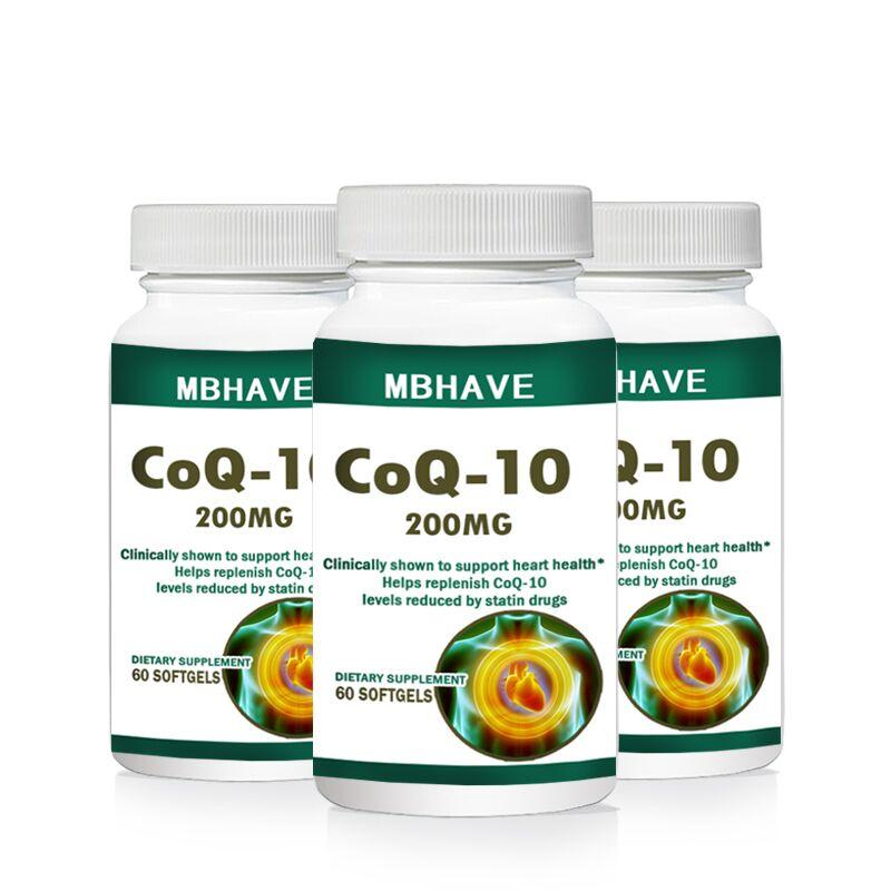 NOVO 2017! FRETE GRÁTIS! 3 garrafas de CoQ10 Coenzima Q10 Um total de 180 CAPS!
