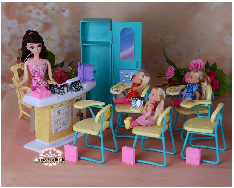 Miniatur TK Kelas Set untuk Barbie 1 6 Furniture Mini Aksesoris Rumah Boneka  Klasik Mainan untuk Gadis di Boneka dari Mainan   Hobi AliExpress.com  3efa327fbe