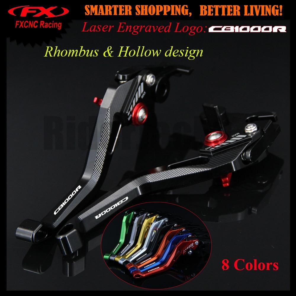 3D design Rhombus Hollow CNC Adjustable Motorcycle Brake Clutch Lever For Honda CB1000R CB 1000R CB1000