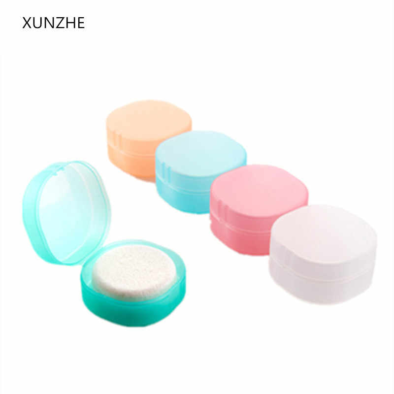 XUNZHE Round transparent plastic soap box Sponge soap holder Home Bathroom Accessories Set Soap edition fashion soap box