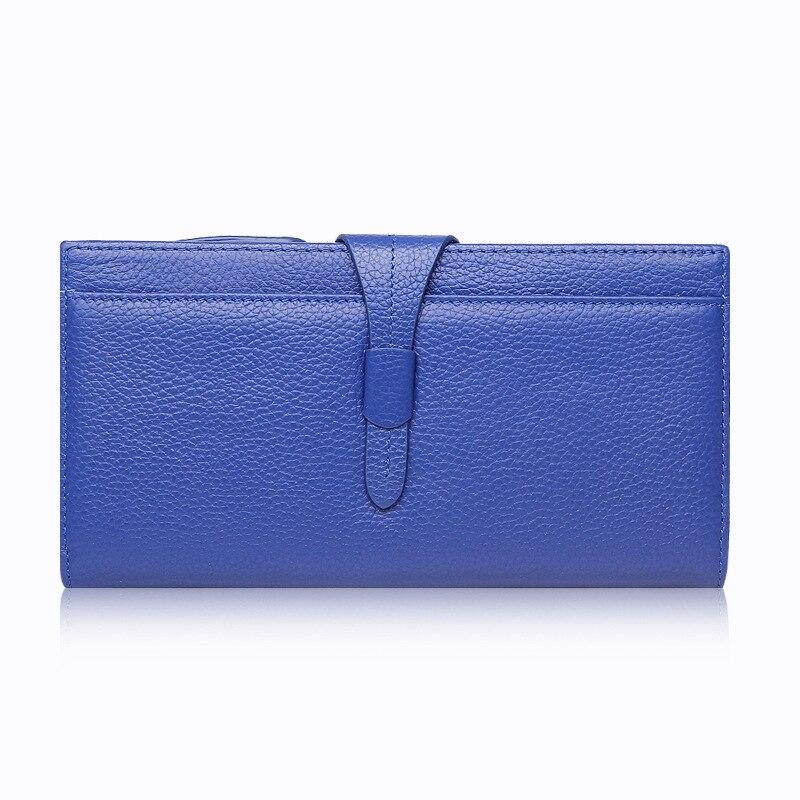 2017 New Fashion Women Genuine Leather Bag Tape Zipper Long Wallet Pocket Card Money Holder Clutch Purse Designer Brand Wallets