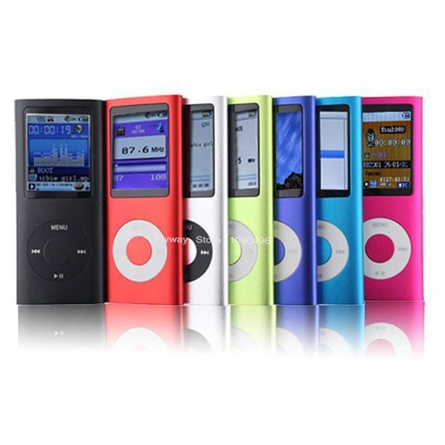 """Alta Calidad Batería Mp4 Delgado 4TO 1.8 """"LCD MP3 con Radio Video FM jugadores para 2 4 8 16 2 GB 4 GB 8 GB 16 GB SD Tf ranura"""