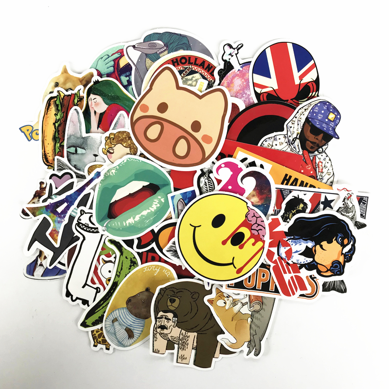 Toys & Hobbies ... Classic Toys ... 32663385532 ... 3 ... TD ZW  50pcs Random Mixed Sticker for Snowboard Laptop Luggage Car Fridge Car- Styling Vinyl Decal home decor Stickers Pegatinas ...