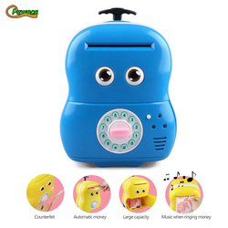 Piggy Bank Cartoon Backpack ATM Money Box Safety Electronic Password Chewing Coin Cash Deposit Machine Gift for Children Kids