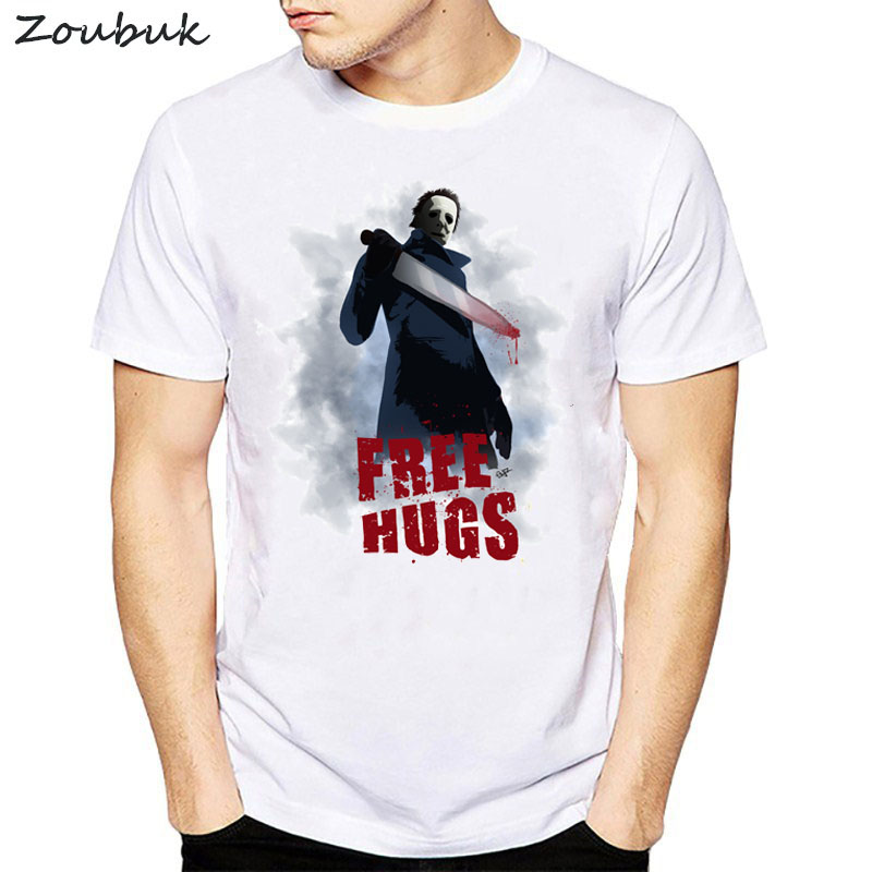 videogame Dead by Daylight t shirt men free hug graphic print short sleeve tee shirt homme summer casual cotton camisetas white