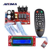 AIYIMA CS3310 Audio Volumen Vorverstärker Bord 3 Weg Schalter Eingang Fernbedienung Volumen Preamp LCD Display Signal Schalter Preamp